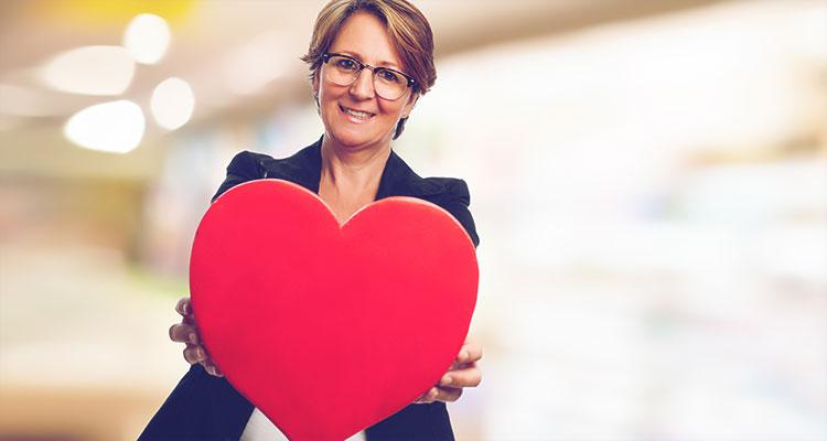 Atitude de coração nos negócios